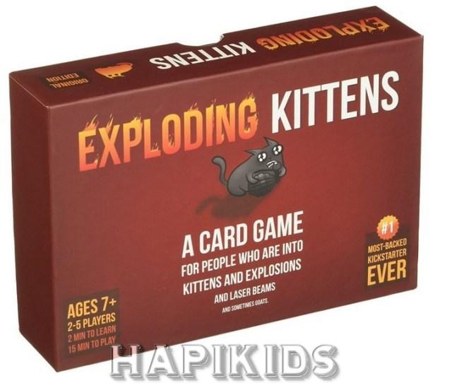 Взрывающиеся котята Скандальная карточная игра для детей