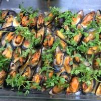 Mosselen, Noilly Prat, slagroom, kervel, tomaat