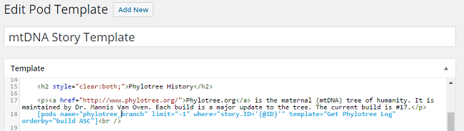 Encyclopedia of mtDNA Origins - Add Phylotree Log to mtDNA Story Template