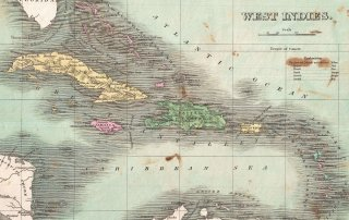 1827 Finley Map of the West Indies, Caribbean, and Antilles