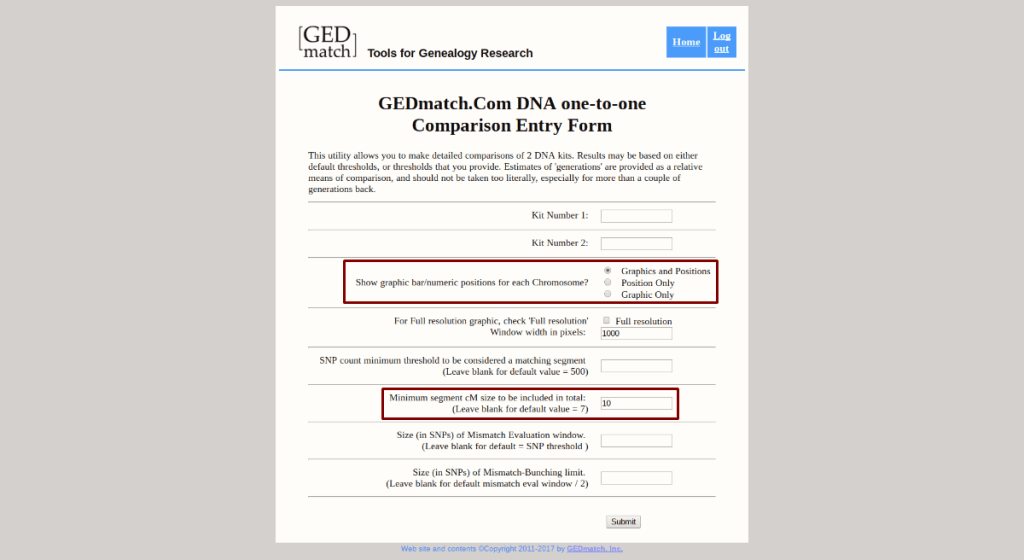 GEDMatch: one-to-one compare 2