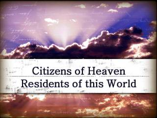 CitizensOfHeaven