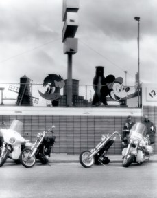 Wall of Character, 1971 From the Daytona series Vintage Gelatin Silver Print 11 x 14 in Copyright © Burk Uzzle courtesy of SOCO Gallery