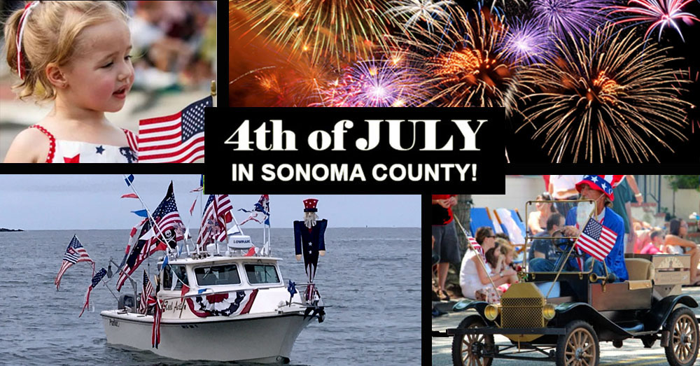 4th of July and fireworks in Sonoma County