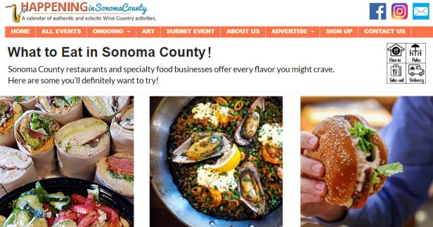 """Free Christmas Meal Sonoma County 2020 Get featured on """"What to Eat in Sonoma County""""!   Happening Sonoma"""