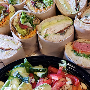 sandwiches and salads at Zoftig Eatery