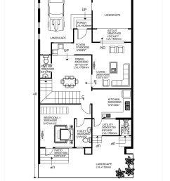 floor plan for 30 x 40 feet plot 3 bhk 1200 square feet 134 sq [ 2480 x 3508 Pixel ]
