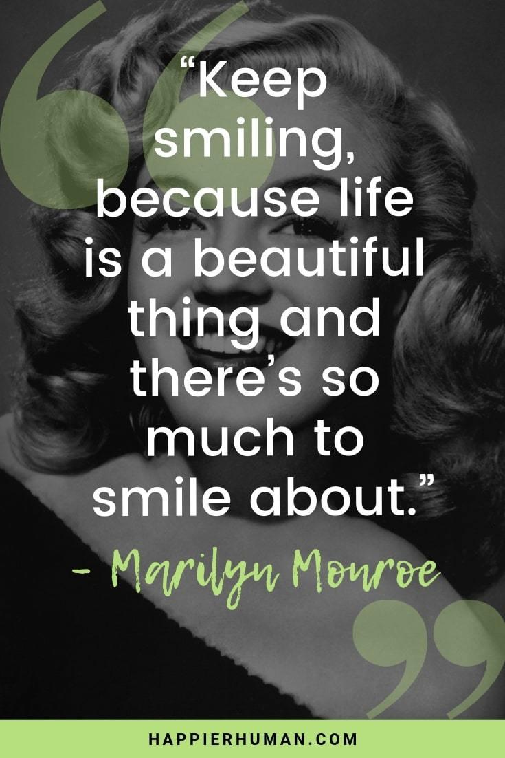 Smile Mottos : smile, mottos, Smile, Quotes, Little, Happier, Human