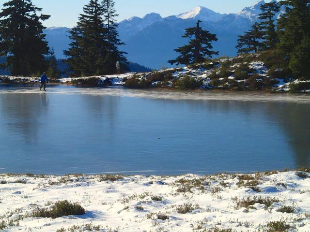 Skating at Elfin Lakes