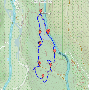 Brohm Lake Trail map