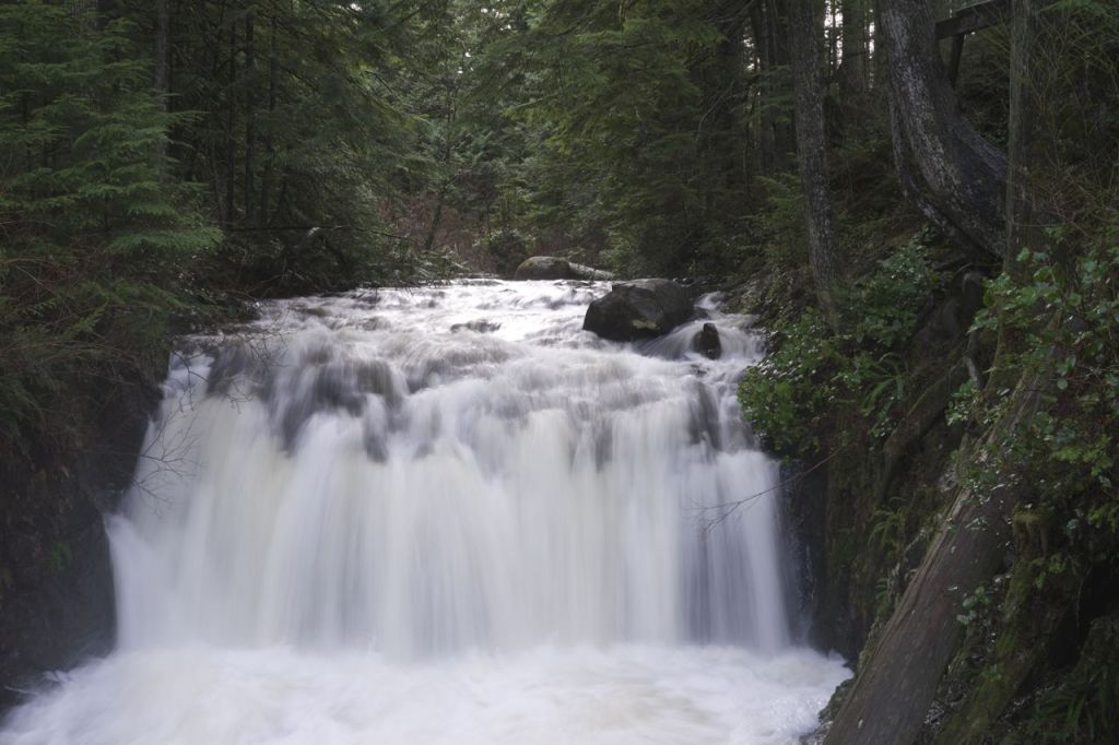 Rolley Falls in Mission BC. Just one of over 40 waterfalls near Vancouver you can hike to.