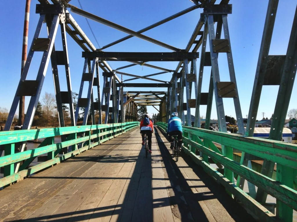 Biking in Ladner: Westham Island Bridge