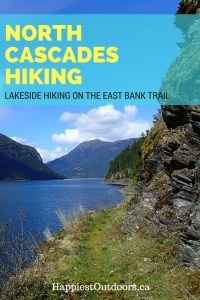 Hiking in North Cascades National Park: hike the East Bank Trail along Ross Lake.  Beautiful lakeside hiking in the North Cascades mountains of Washington.