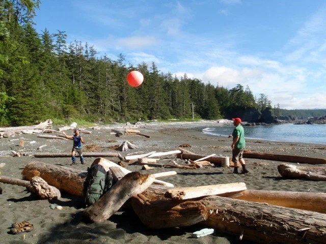 Having fun on the Nootka Trail