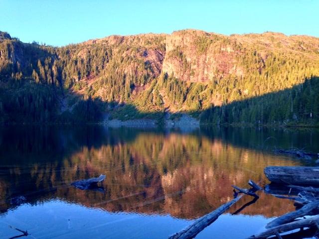 Circlet Lake in Strathcona Provincial Park
