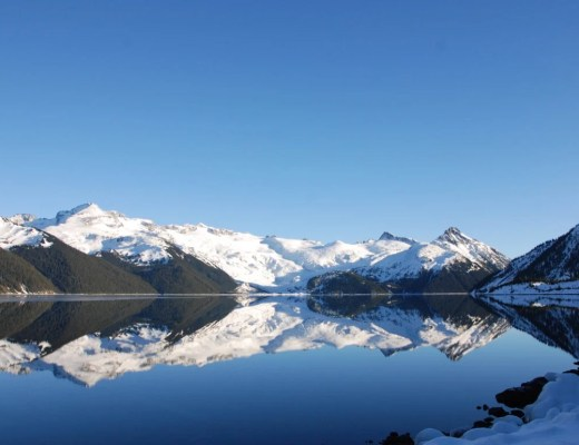 Winter reflections at Garibaldi Lake