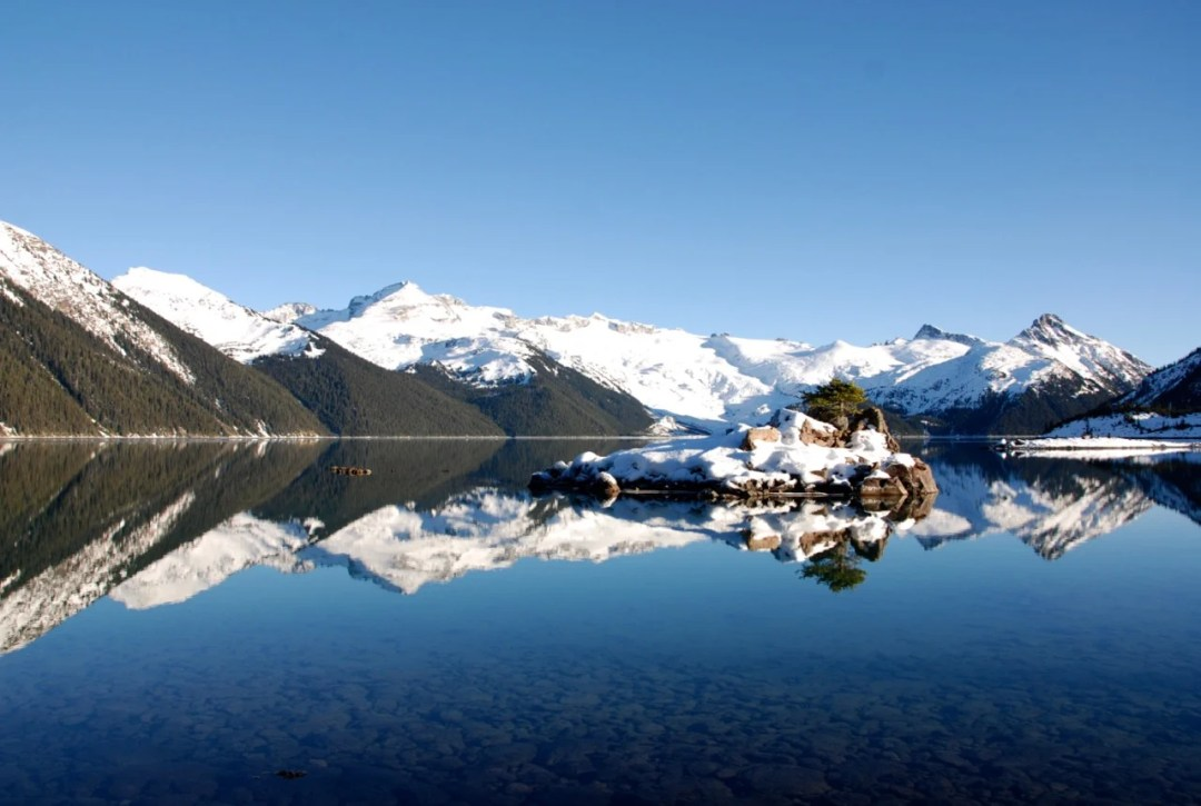Tiny islands at Garibaldi Lake