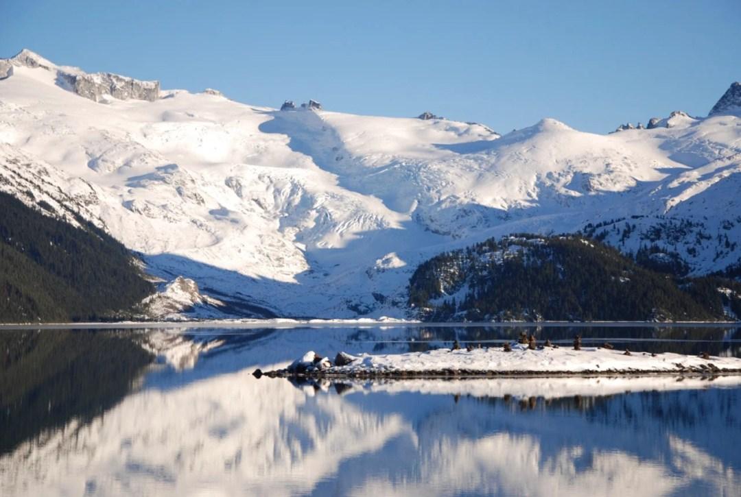 Looking across Garibaldi Lake to the Sphinx Glacier