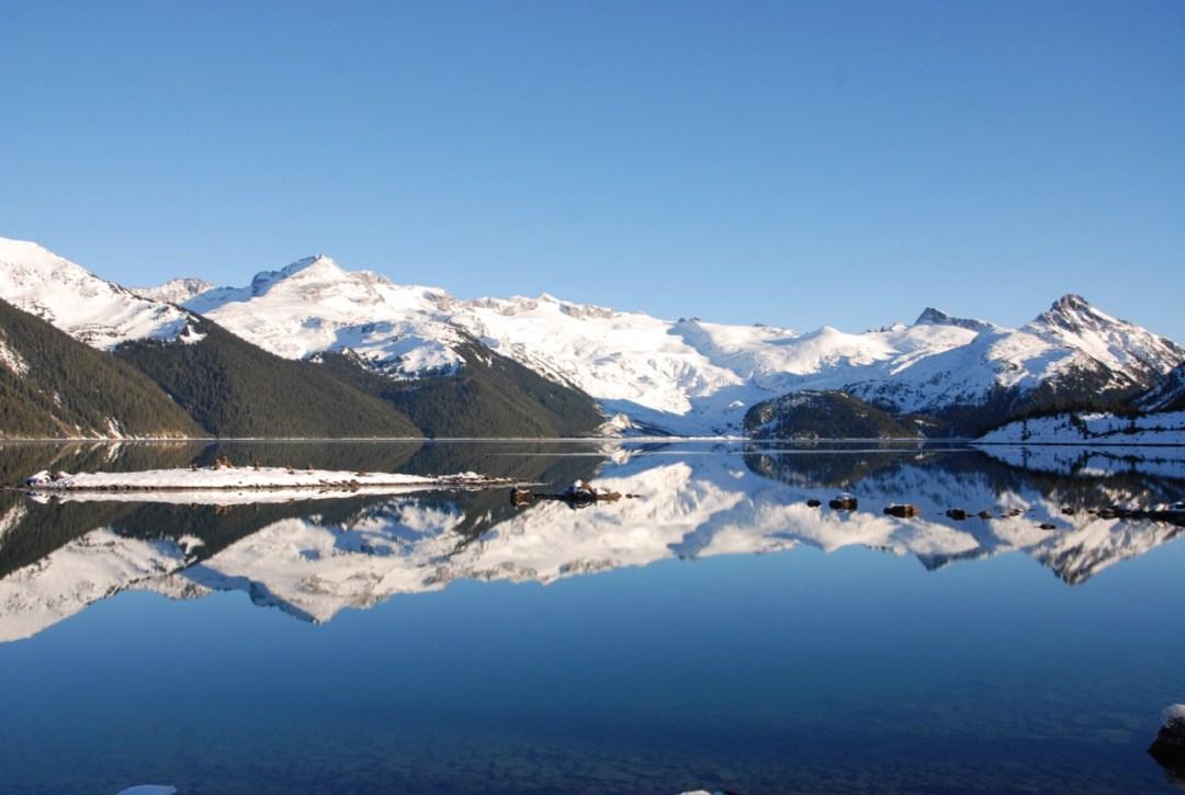 Looking out at Garibaldi Lake