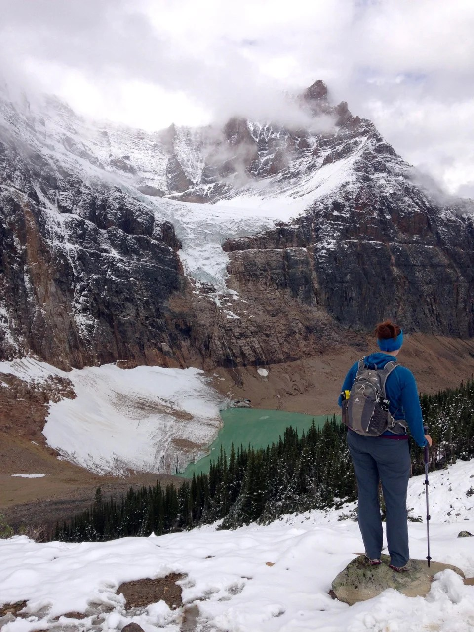Hiking the Mount Edith Cavell Trail in Jasper