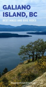 The best hikes and bike rides on Galiano Island, BC. Explore the outdoors on Galiano Island in British Columbia's Gulf Islands. Hiking and biking off the beaten path in BC.
