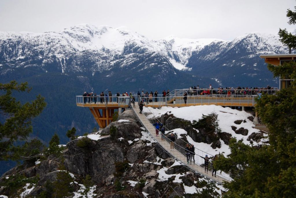 Snowshoeing at the Sea to Sky Gondola