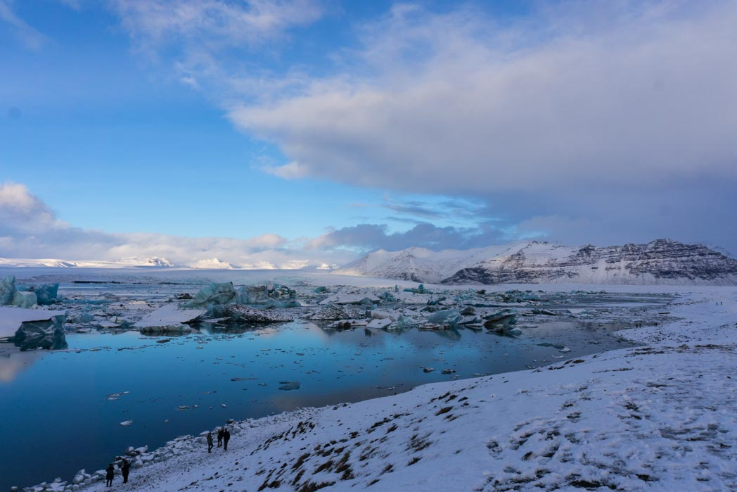 Jokulsarlon, the glacier lagoon, in winter in Iceland: 7 Things You Might Not Know About Winter in Iceland