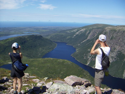 Hiking the Long Range Traverse in Gros Morne National Park, Newfoundland.