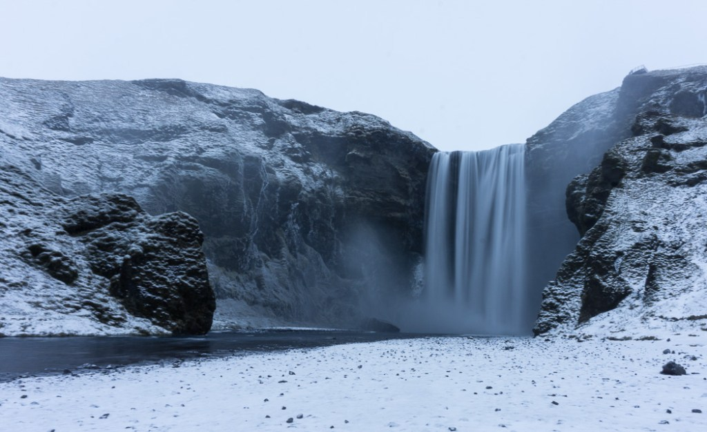 Skogafoss in winter. A winter week in Iceland. Iceland in January. 35 Photos that will make you want to go to Iceland in winter.