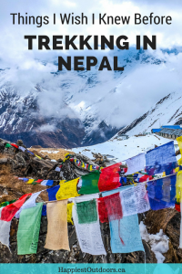 Things I wish I knew before going trekking in Nepal. Travel bloggers share so you can know before you go. #Nepal #trekking #AnnapurnaSanctuary #AnnapurnaCircuit