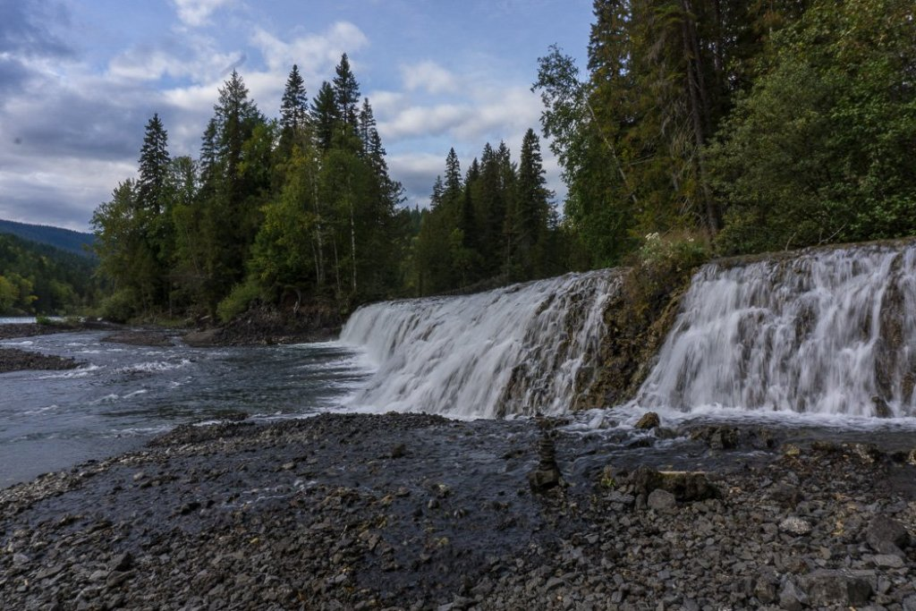 Osprey Falls, one of the many gorgeous waterfalls in Wells Gray Provincial Park near Kamloops, BC