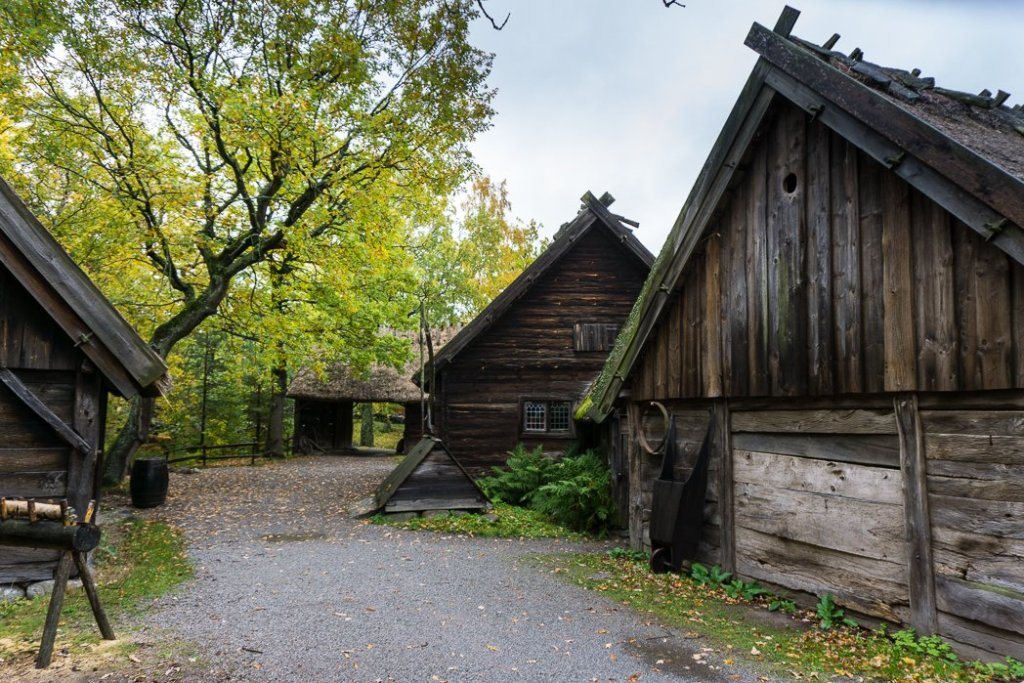 18th century farm buildings at the Skansen outdoor museum in Stockholm, Sweden. 30 photos of Stockholm that will inspire you to visit.