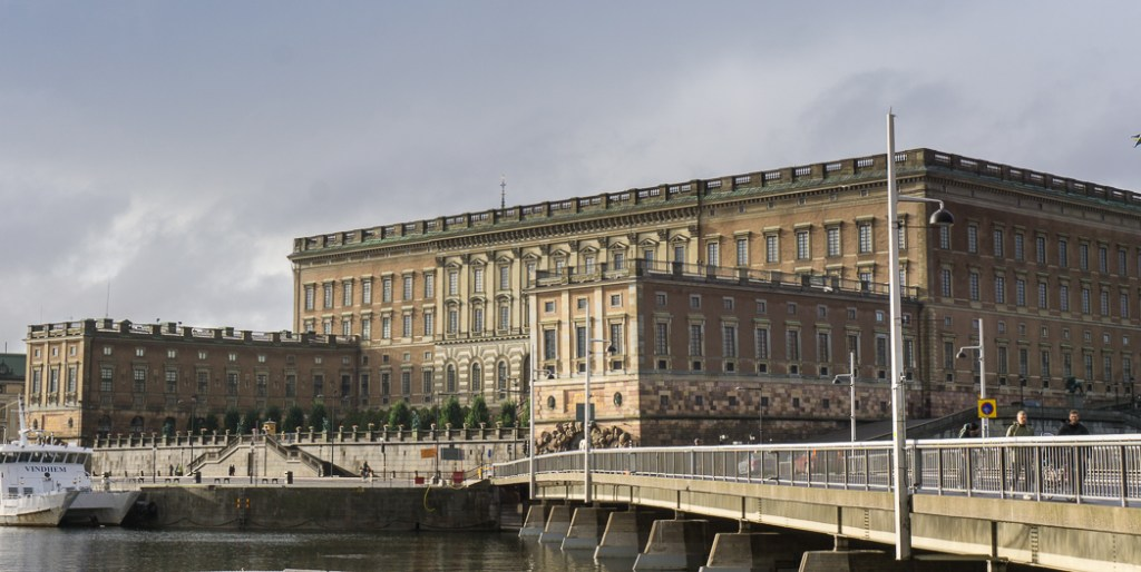 The Royal Palace in Stockholm, Sweden.