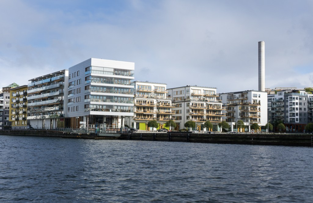 New development in Hammarby, Stockholm, Sweden. 30 photos of Stockholm that will inspire you to visit.