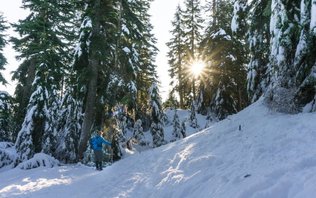 Snowshoeing at Cypress Mountain near Vancouver, BC. Read about what to wear winter hiking and snowshoeing.