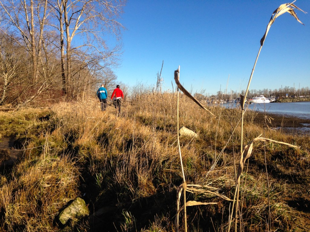 Deas Island Regional Park, one of over 100 snow-free hikes in Vancouver that you can hike all year long.