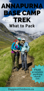 What to pack for the Annapurna Base Camp Trek in Nepal. Find out what you need to bring and what you can leave at home. Includes a free printable packing check list.