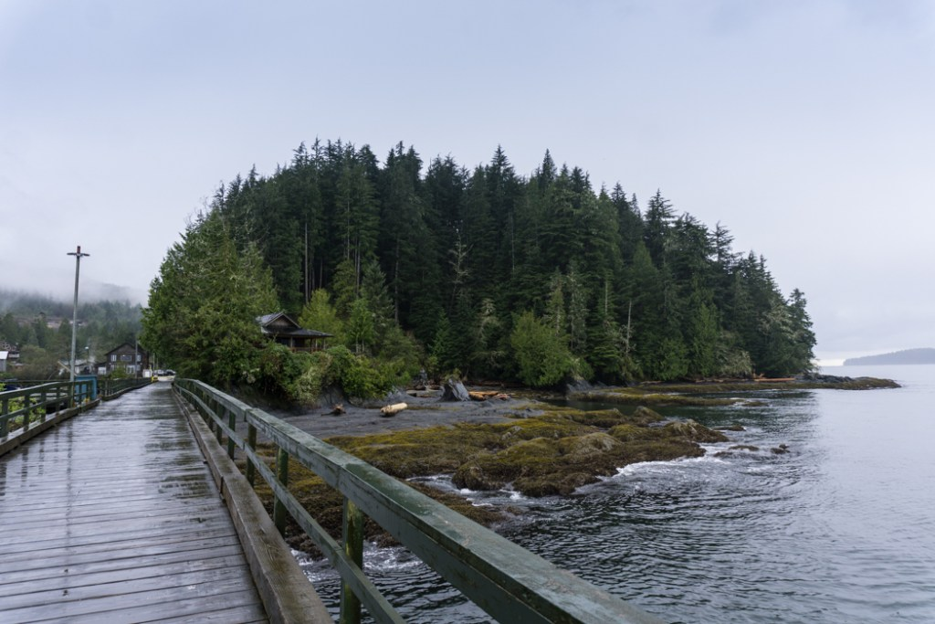 The government dock in Port Renfrew. Port Renfrew is the perfect overnight stop on a road trip of the Pacific Marine Circle Route on Vancouver Island.