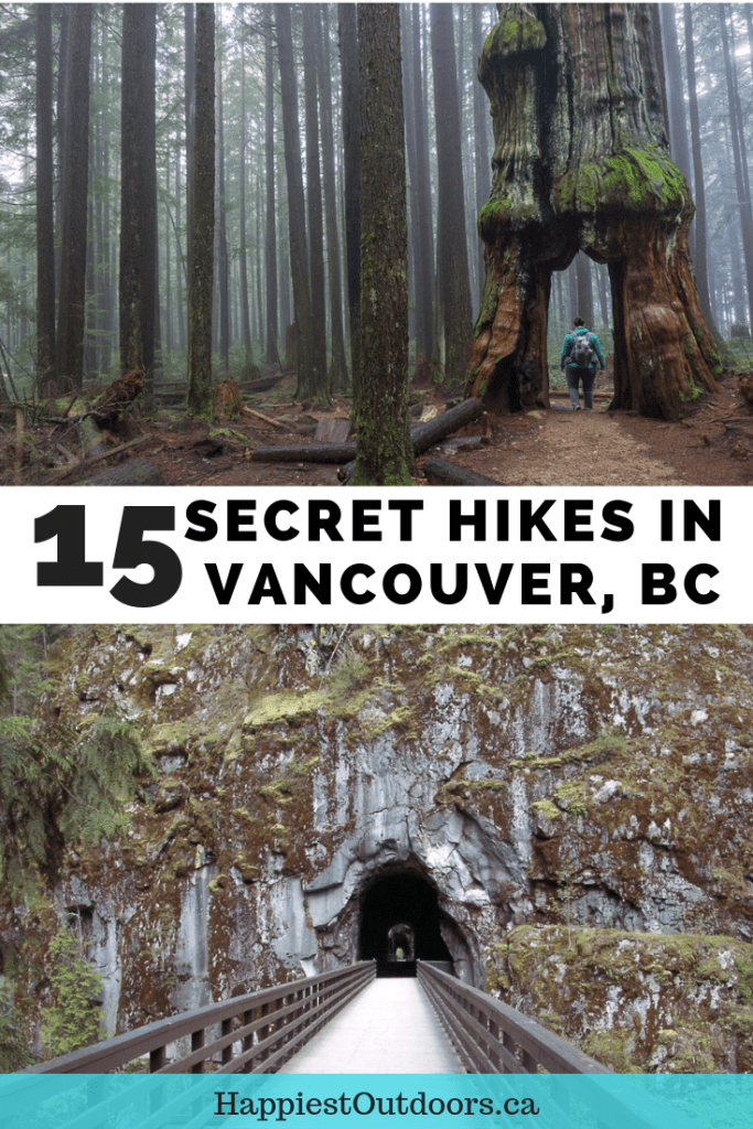 Vancouver's secret hikes. Weird and wonderful hikes near Vancouver, British Columbia, Canada that are off the beaten path. Urban exploration, giant old trees and more. #hiking #Vancouver #Canada