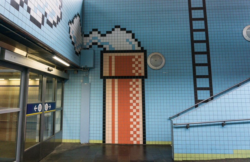 Art at Thorildsplan Station on the Stockholm subway. Find out how to visit this station and 11 others on a self-guided tour of Stockholm subway art.