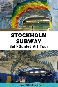 Follow this self-guided tour to see the best of Stockholm subway art. #Stockholm