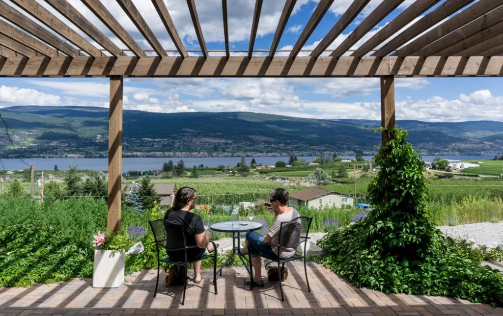 Lunessence Winery in Summerland, BC. Explore Summerland's wineries by bike with this self-guided tour.