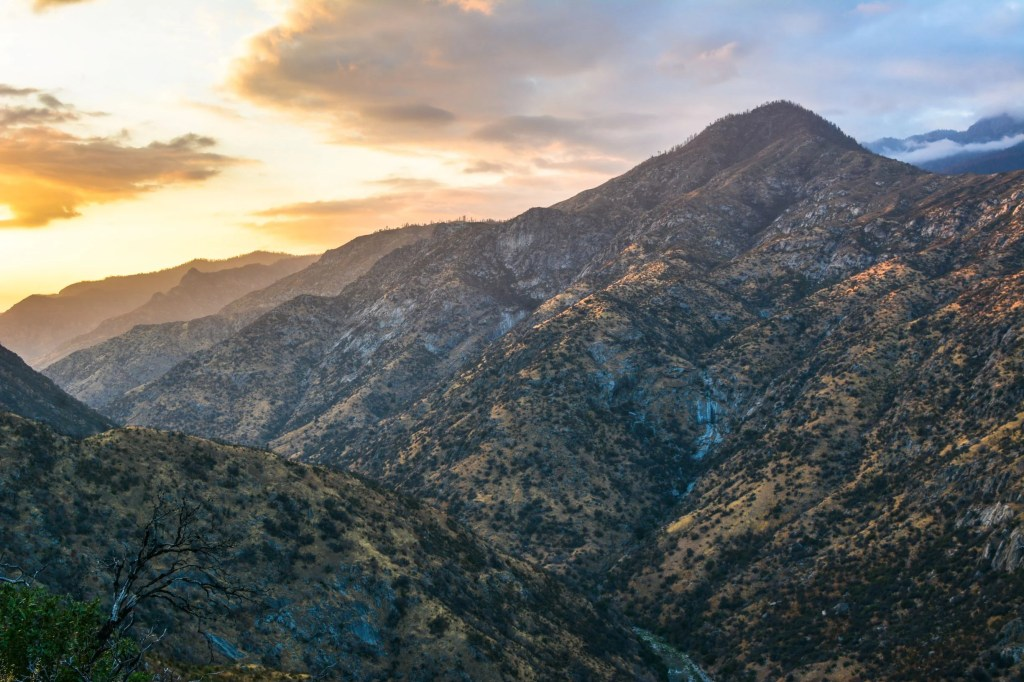 The scenic drive in Kings Canyon National Park - just one of many things to do in Sequoia and Kings Canyon National Parks.