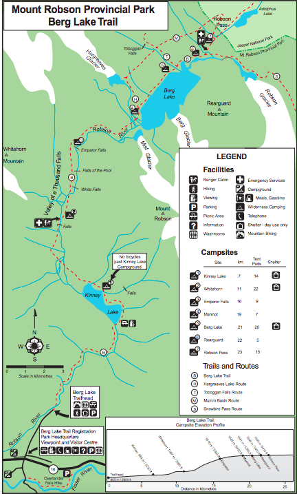 Berg Lake Trail Map: The Ultimate Guide to Hiking the Berg Lake Trail in Mount Robson Provincial Park in the Canadian Rockies