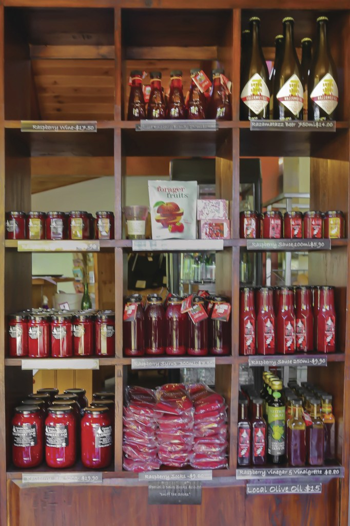 The shop at Christmas Hills Raspberry Farm near Devonport, Tasmania. Just one of over 40 things to do in Devonport and Tasmania's North West.