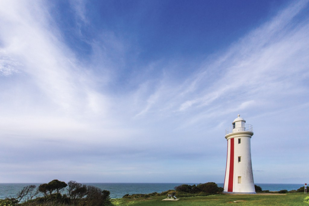 Mersey Bluff lighthouse in Devonport, Tasmania, Australia. Just one of over 40 things to do in Devonport and Tasmania's North West.