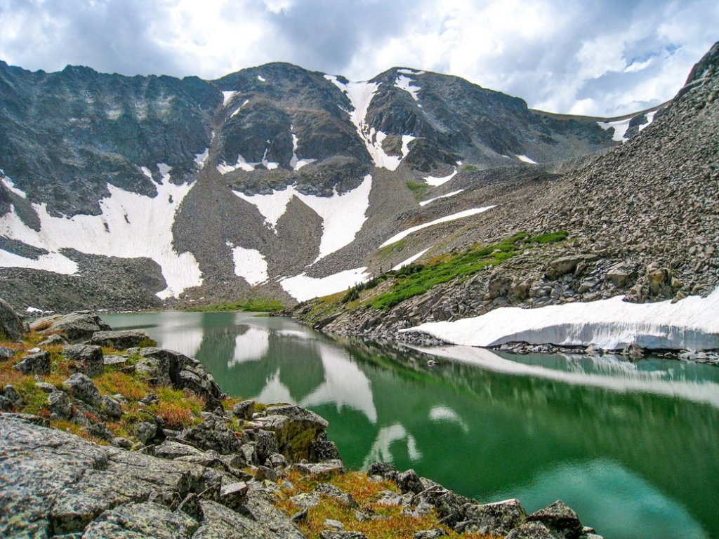 Lake of the Clouds in Rocky Mountain National Park. One of the best lake hikes in Colorado.
