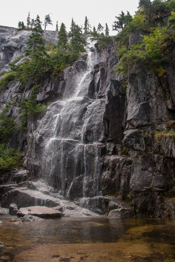 Neverland Falls near the Sea to Sky Gondola in Squamish. Just one of over 40 waterfalls near Vancouver you can hike to.