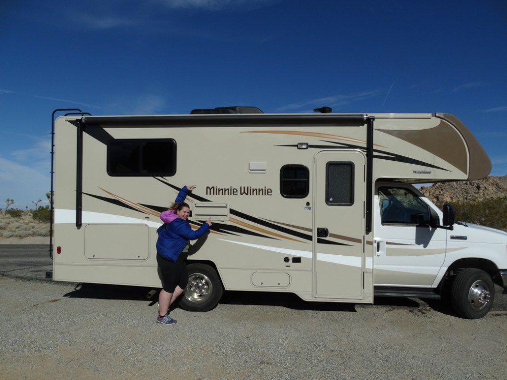 RV Camping in Joshua Tree National Park. Just one of our recommendations for the best places to stay near Joshua Tree.