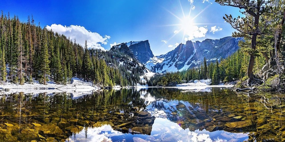 Dream Lake in Rocky Mountain National Park. One of the most beautiful lake hikes in Colorado.